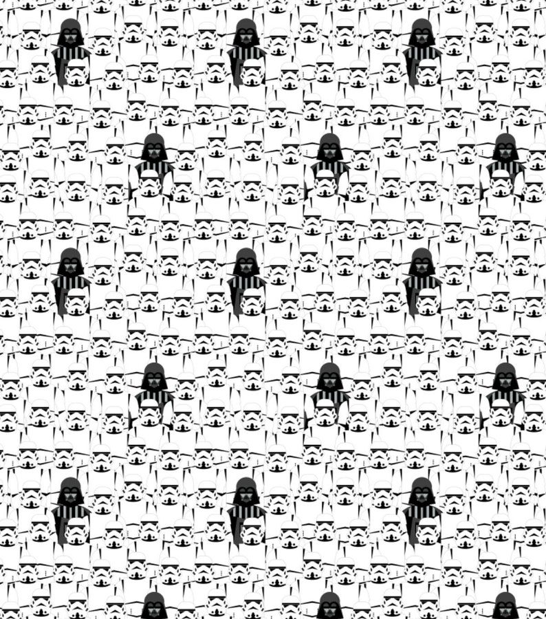 Star Wars Darth Vader And Stacked Troopers Licensed Cotton Fabric 100/% Cotton Fabric 18x21 Fat Quarter