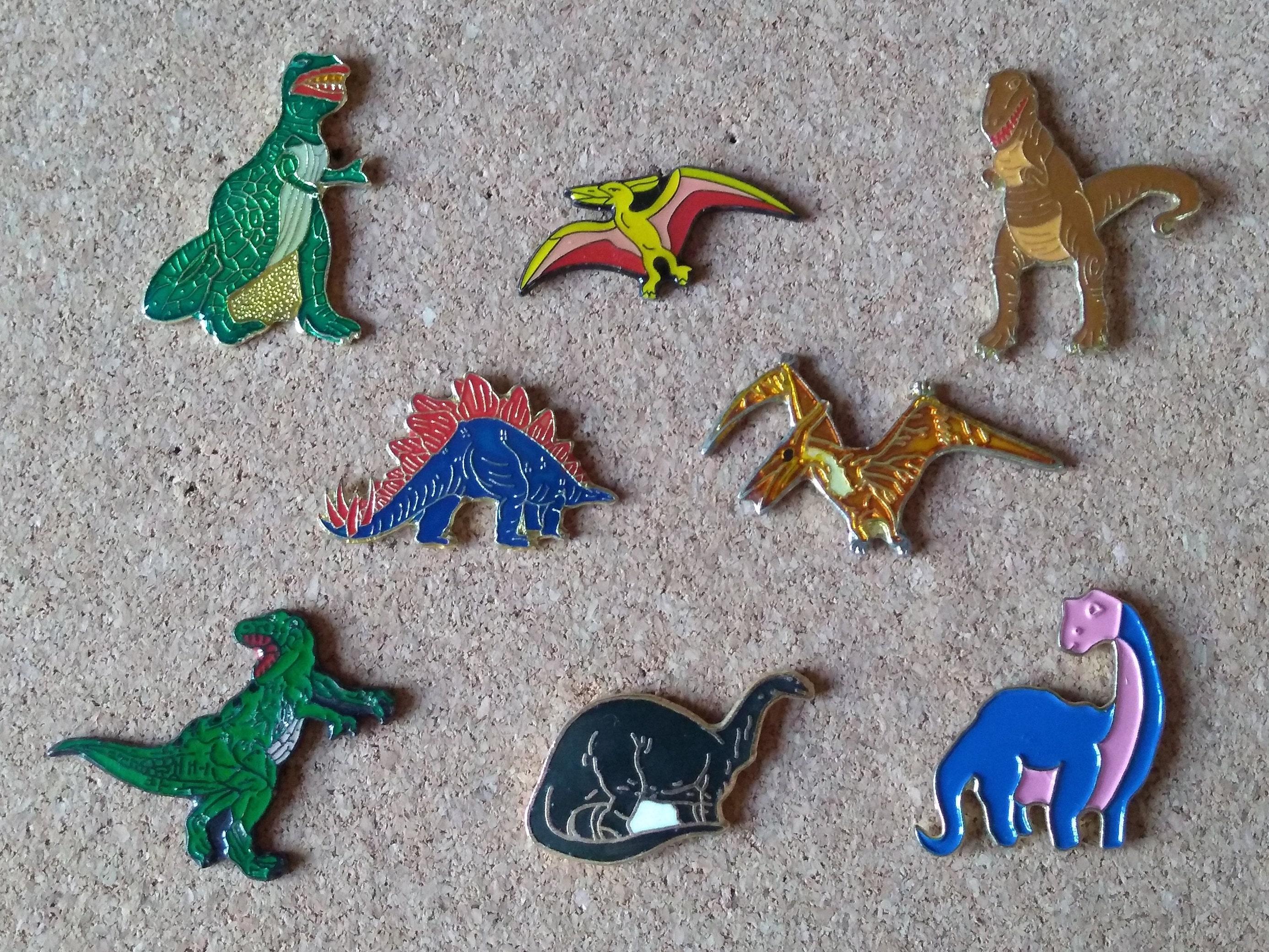 Vintage Fisher-Price Bruce the Brontosaurus plush enamel pin