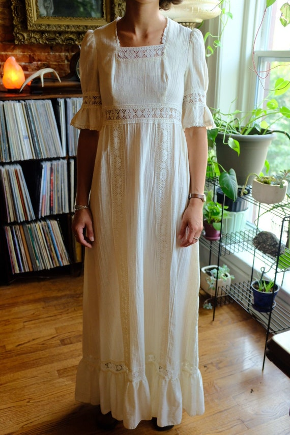 1960s/1970s Boho Hippie Wedding Dress