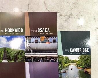 Travel Photo Books • Kickstarter Backed • 9 Regions in Japan, Korea and England • Restaurants, Sights and Music