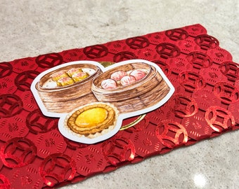 Die-Cut Dim Sum Magnet • Siu Mai, Har Gao Dumplings, Dan Tat Egg Tart • Birthday, Holiday, Foodie Gift