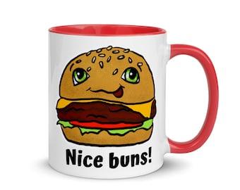 Nice Buns Burger Humor Mug