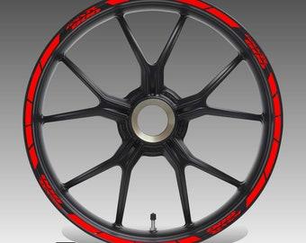 2 Tons Am/éthyste Autocollant de Jante de Moto Inner Rim Tape pour Suzuki GSXS