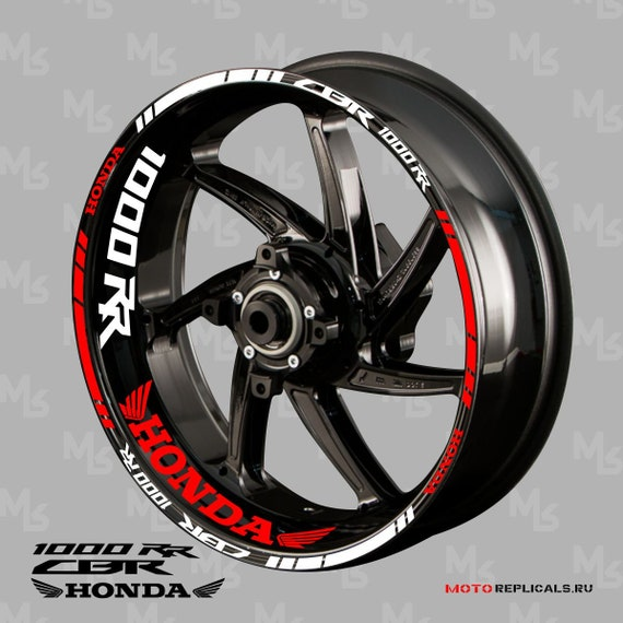 Motorcycle Wheel Rim Decals Wheel Reflective Stickers Stripes For Honda CBR1000RR Blue