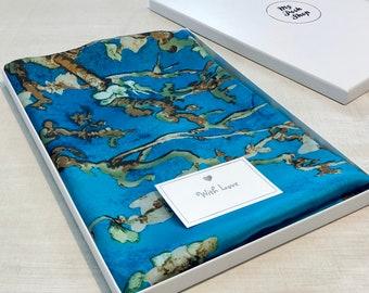 Van Gogh Almond Blossom Silk Scarf in Gift Box