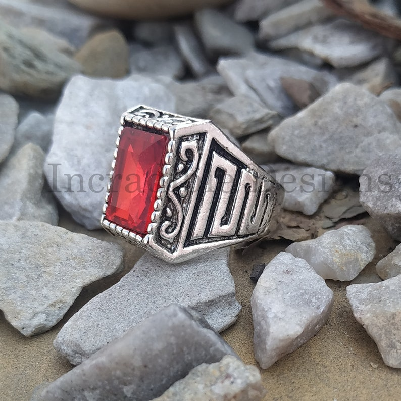 turkish mens ring Red Onyx Quartz stone Ring Classic Design Ring-Valentine Gift Gift for love Signet Mens Ring 925 sterling silver ring