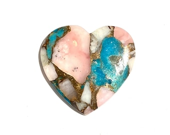 Beautiful Spiny Oyster Copper Turquoise Cabochon Pear Shape Cabochon Natural Healing Stone...27x17x5mm Approx  17.5Ct Weight