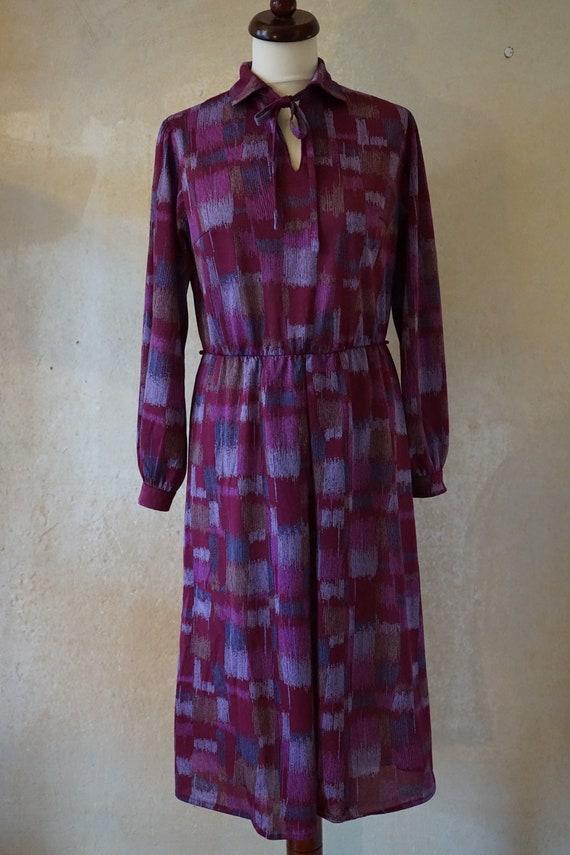 Vintage 70s 80s women's dress shirt blouse dress,