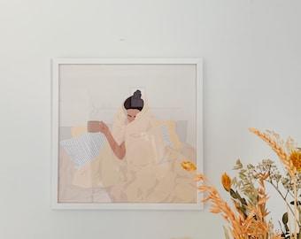 Quarantine Mood 30x30 cm Wall Art Print