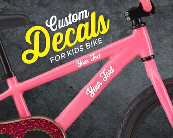 Bike Mountain Bicycle Name Stickers x2 Cycle Stickers Customised Name Decals