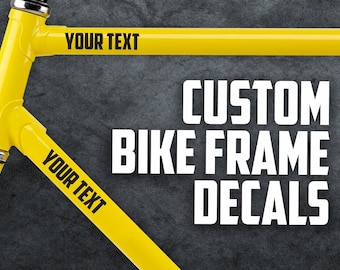 2 x Custom Bike Name Stickers For Cycle Frame Kids Style