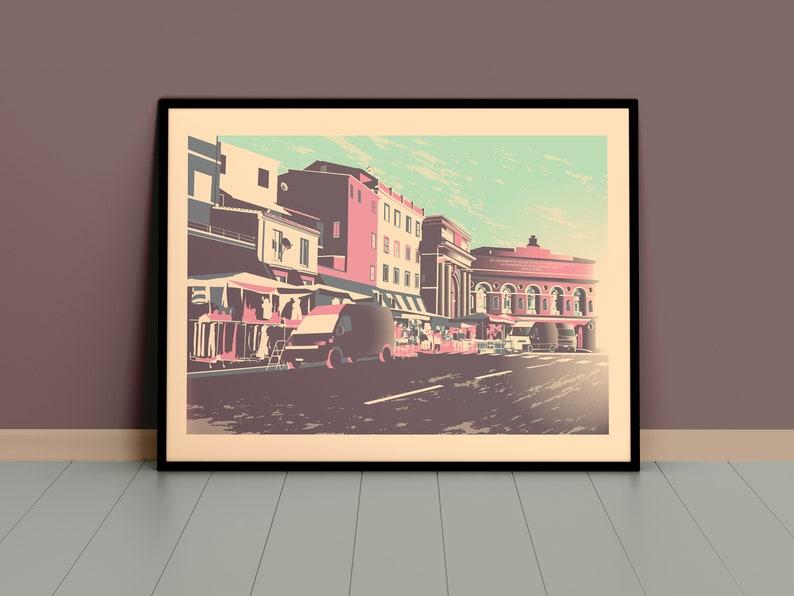 Sferisterio Street Market Gicl\u00e9e Art Print Macerata