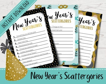 Scattergories Cards Etsy