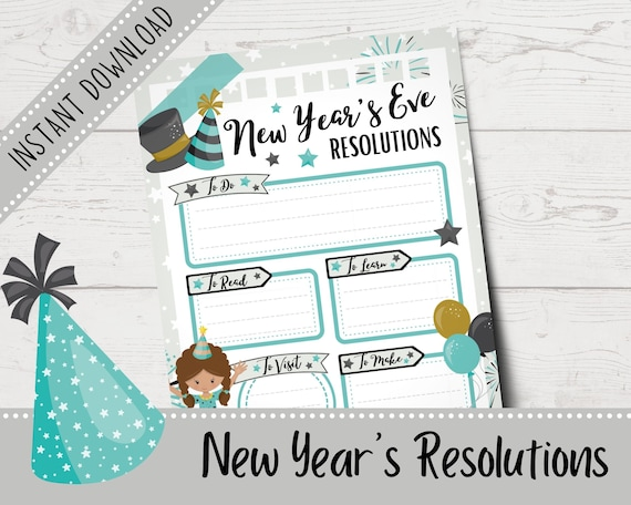 New Year's Resolutions for Kids  New Year's Eve