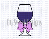 Wine Glass with Bow Cookie Cutter