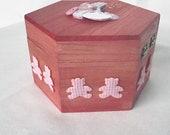 Handmade pink keepsake box