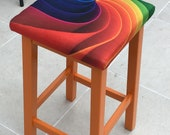 Pair of bright coloured Upcycled Stools