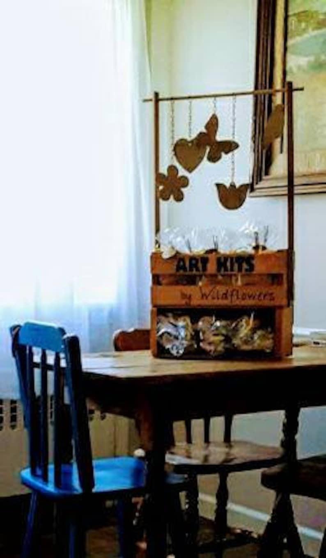 Market Display  Art Kits with Display  Wooden Display  Tool Tote  Art Shelf