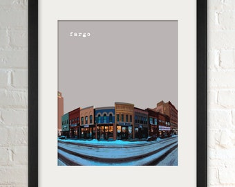 Fargo ND   City Wall Art   Minimalist Home Decor   Prints, Framed Prints, Gallery Wrap Canvas, and Plaques