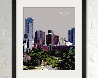 Dallas TX   City Wall Art   Minimalist Home Decor   Prints, Framed Prints, Gallery Wrap Canvas, and Plaques