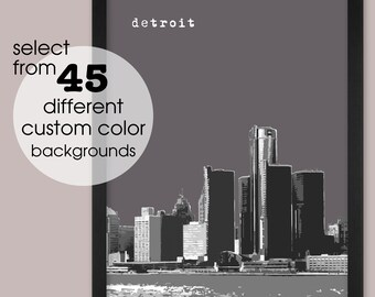 Detroit MI   City Wall Art   Home Decor   Prints, Framed Prints, Gallery Wrap Canvas, and Plaques