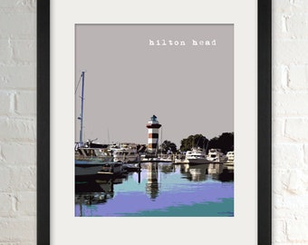 Hilton Head SC   City Wall Art   Minimalist Home Decor   Prints, Framed Prints, Gallery Wrap Canvas, and Plaques