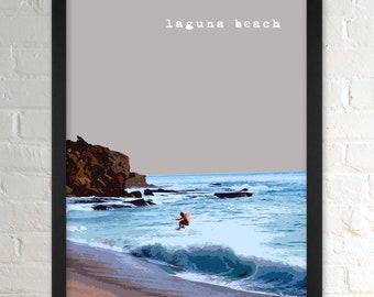 Laguna Beach CA   City Wall Art   Minimalist Home Decor   Prints, Framed Prints, Gallery Wrap Canvas, and Plaques