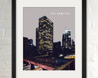 Los Angeles CA   City Wall Art   Minimalist Home Decor   Prints, Framed Prints, Gallery Wrap Canvas, and Plaques