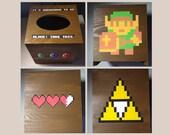 Retro 8-Bit Old School Gaming Tissue Box Holder, Zelda Tissue Box Holder, Super Mario Tissue Box Holder, Final Fantasy Tissue Box Holder