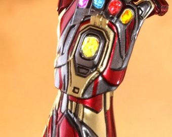 Avengers Endgame Infinity Gauntlet Iron Man Tony Stark Gloves Cosplay PVC dh
