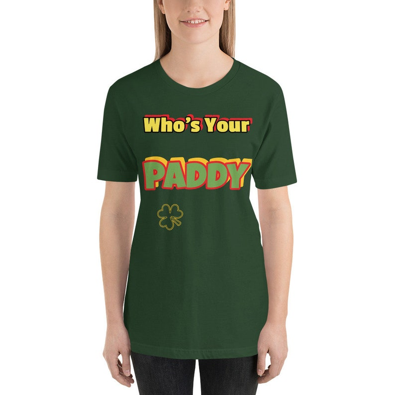 Who's Your Paddy shirt for St. Patrick Day.Short-Sleeve image 0