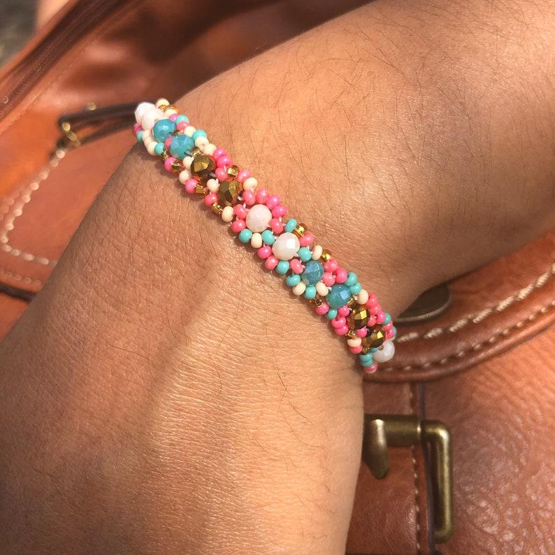Mexican bracelet Mexican handmade bracelet beaded handmade bracelet multicolor Huichol bracelet. slim bracelet