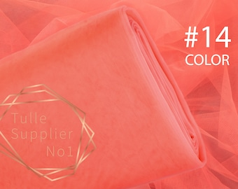 Lux red tulle fabric soft 3m wide tulle by the bolt COLOR #53