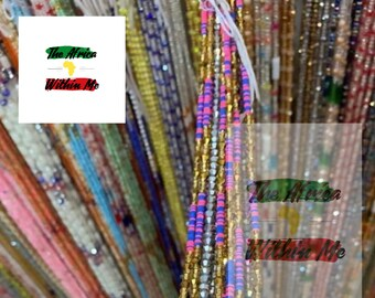 Custom Length /& Clasps for up to 3 Strands Strands Sold Separately CUSTOMIZATION UPGRADE for African Waist Beads