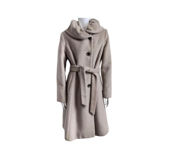Vintage wool alpaca mohair belted coat pea coat me