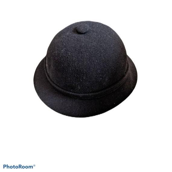 Vintage Kangol black Trilby fedora bucket hat XL