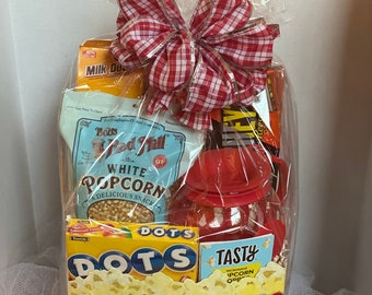 Family Movie Night Gift Basket /Gift Basket / Popcorn Gift Basket