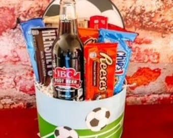 Soccer Snack Attack Gift Basket / thank you basket / Gift Basket