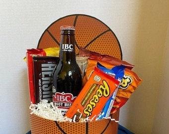 Basketball Snack Attack Gift Basket / thank you basket / Gift Basket