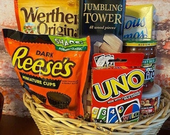 Family Game Night Gift Basket /Gift Basket / Games Gift Basket
