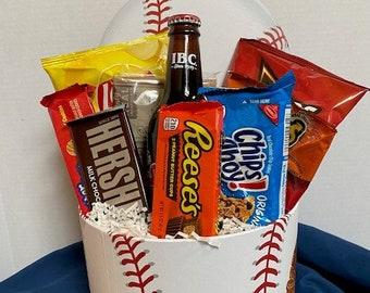 Baseball Snack Attack Gift Basket / Thank You Basket / Chocolate Gift Basket