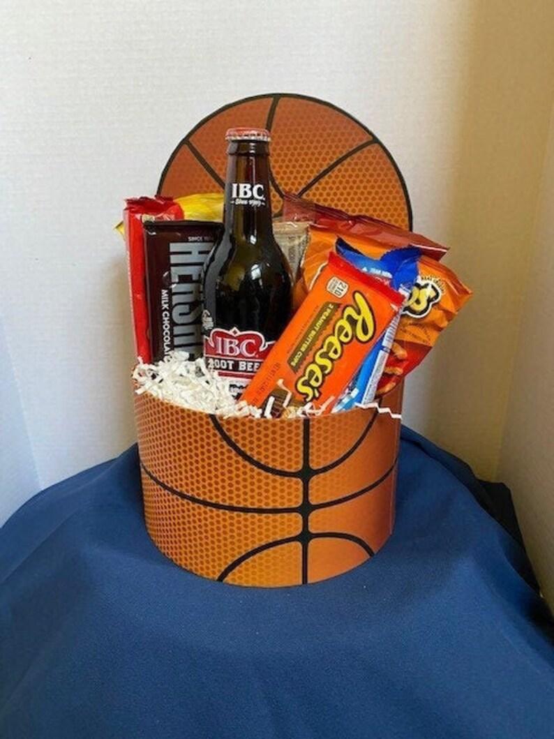 Basketball Snack Attack Gift Basket / thank you basket / Gift image 1