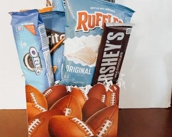 Football Snack Attack Gift Basket / Thank You Basket / Gift Basket