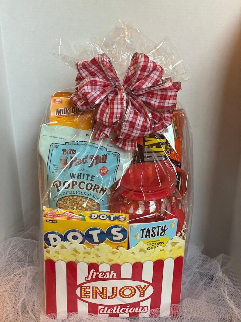 Family Movie Night Gift Basket /Gift Basket / Popcorn Gift image 0