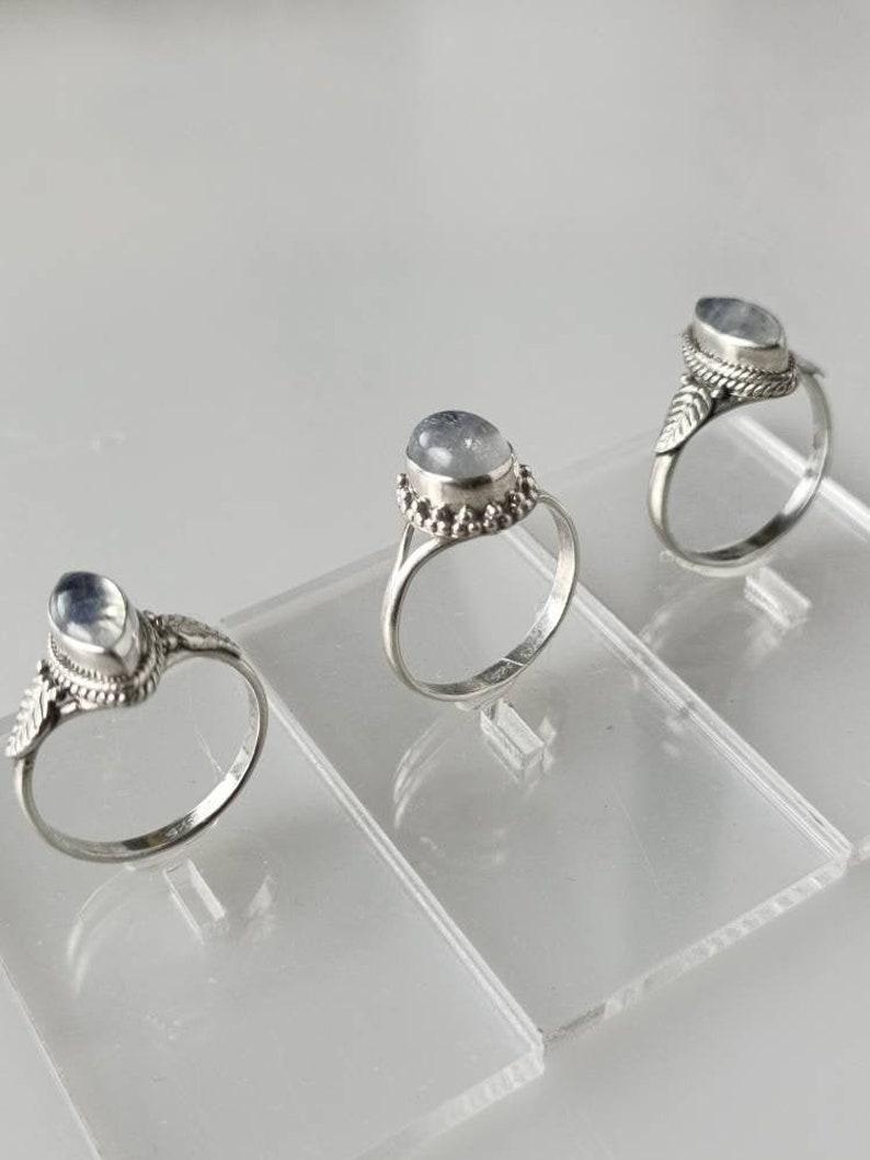 moonstone ring silver moonstone silver ring minimalist moonstone ring stackable rings boho moonstone ring Australia moonstone ring
