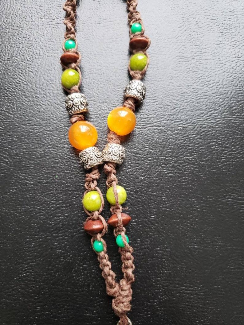 Ganesha Pendant Beaded Macrame Roach Clip