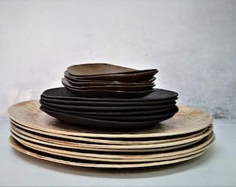 Unique Dinnerware Set, Ceramic Dinnerware Set, Rustic Dish Sets, Ceramic Dinner Plates Set, Rustic Dinnerware Set, Stoneware Dish Set