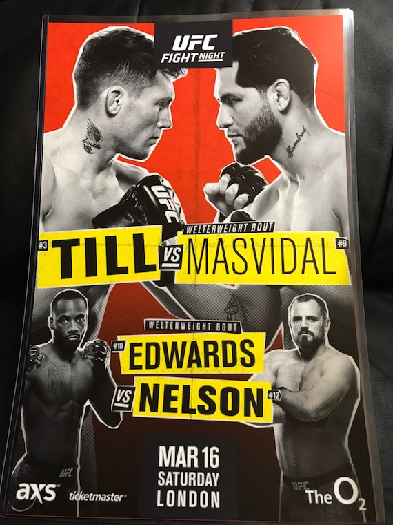 Ufc Fight Night 147 Espn 5 Event Print Poster Till Vs Etsy