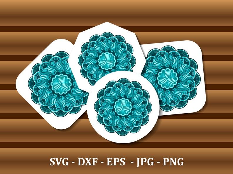 Download Mandala SVG Layered 3d mandala svg laser cut dxf mandala ...