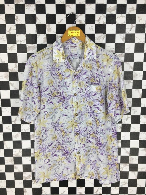 Vintage 80's Wrangler Hawaiian Cotton Shirt Mens L